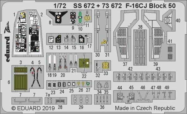 Eduard SS672 F-16CJ Block 50 1/72 TAMIYA