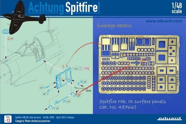 Eduard 48766 Spitfire Mk. IX surface panels 1/48 EDUARD