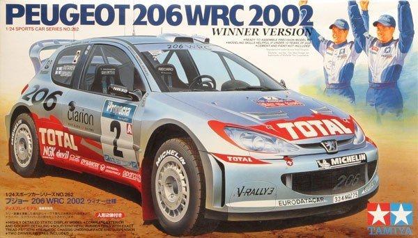 Tamiya 24262 Peugeot 206 WRC 2002 Winner Version (1:24)