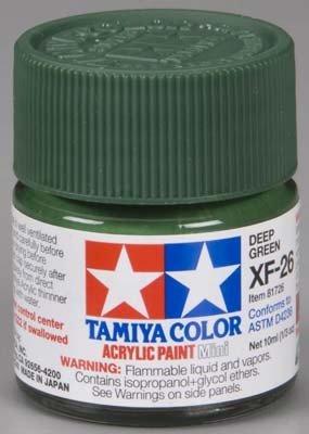 Tamiya XF26 Deep Green (81726) Acrylic paint 10ml