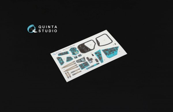 Quinta Studio QD72018 Mi-24P 3D-Printed & coloured Interior on decal paper (for Zvezda kit) 1/72