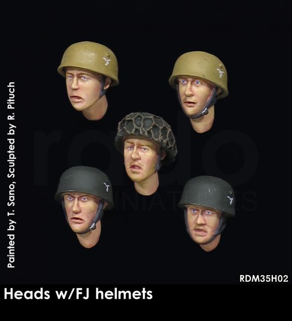 RADO Miniatures RDM35H02 Heads w/FJ helmets 1/35