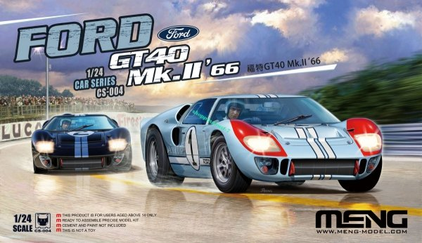 Meng Model CS-004 Ford GT40 Mk.II 1/24