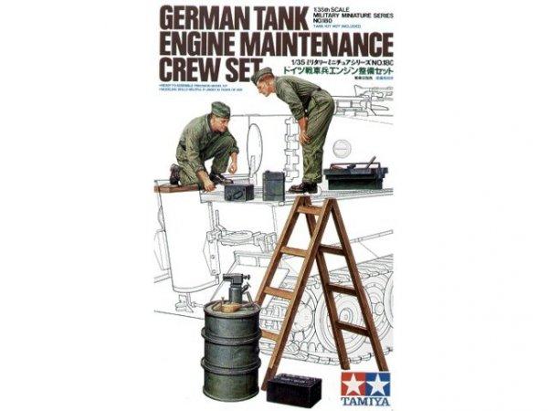 Tamiya 35180 German Tank Engine Maintenance Crew Set (1:35)