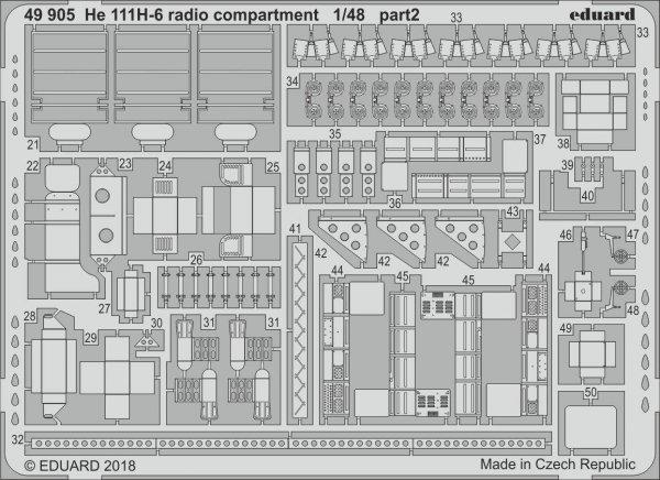 Eduard 49905 He 111H-6 radio compartment 1/48 ICM