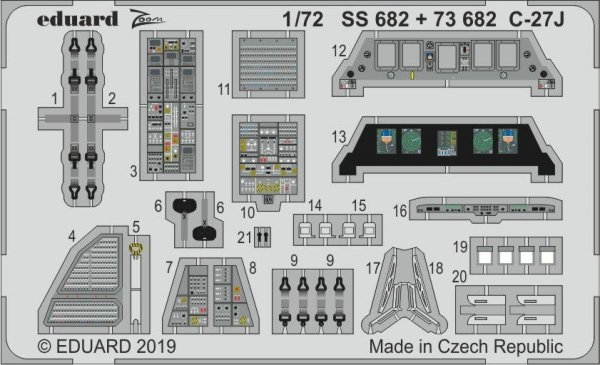 Eduard 73682 C-27J 1/72 ITALERI