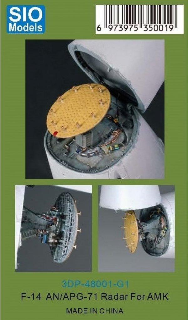 SIO Models 3DP-48001-G1 F-14 AN/APG-71 Radar 1/48