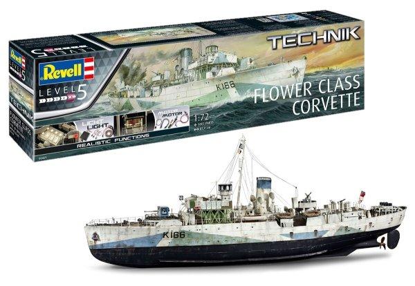 Revell 00451 Flower Class Corvette Technik 1/72