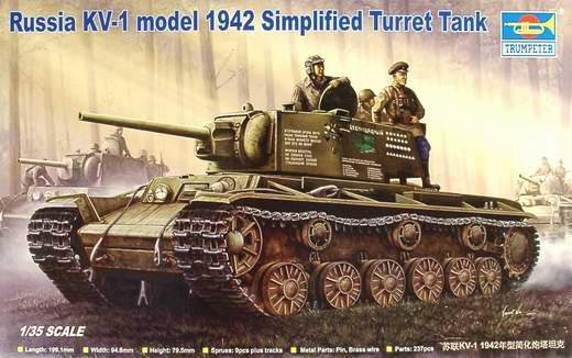 Trumpeter 00358 Russian KV-1 model 1942 Simplified Turret Tank (1:35)