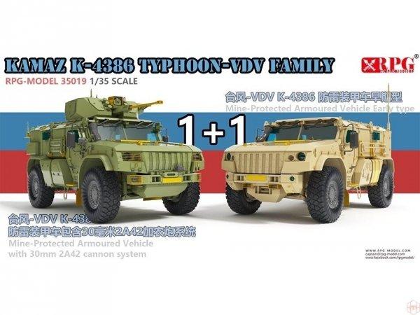 RPG Model 35019 KAMAZ K-4386 Typhoon-VDV Family 1+1 1/35