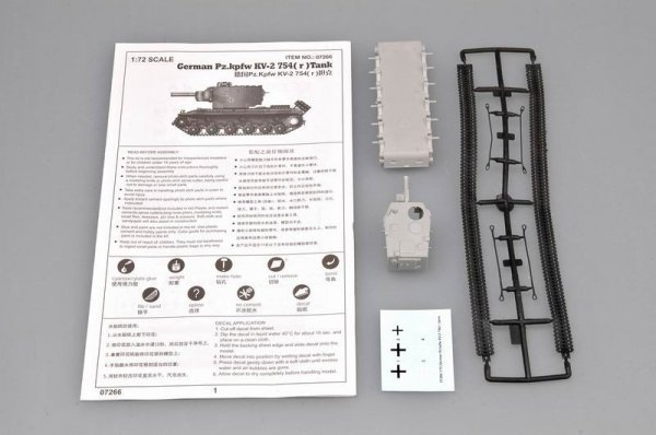 Trumpeter 07266 German Pz.kpfw KV-2 754( r )tank (1:72)