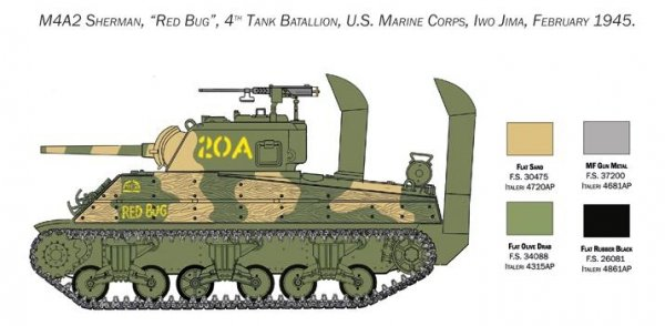 Italeri 6583 M4A2 Sherman US Marines Corps 1/35