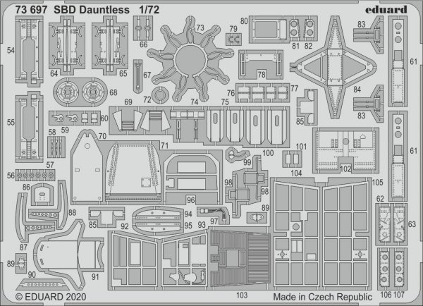 Eduard 73697 SBD Dauntless 1/72 HASEGAWA