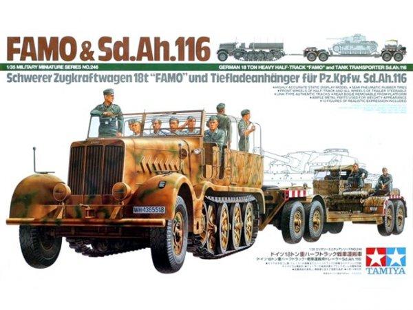 "Tamiya 35246 German 18 Ton Heavy Half-Track ""Famo"" and Tank Transporter Sd.Ah.116 (1:35)"