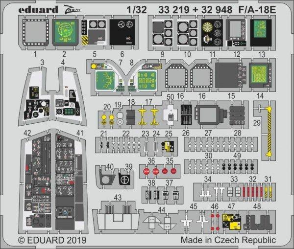 Eduard 32948 F/ A-18E interior 1/32 REVELL