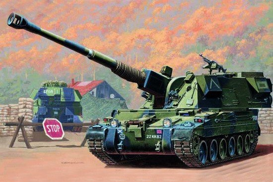 Trumpeter 00324 British 155mm AS-90 self-propelled howitzer (1:35)