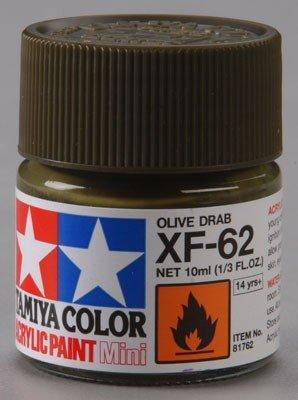 Tamiya 81762 XF62 Olive Drab Acrylic paint 10ml