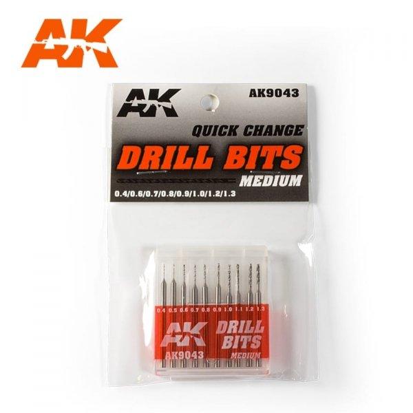 AK Interactive AK 9043 DRILL BITS (0.4-1.3)