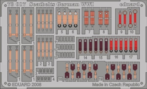 Eduard 73017 Seatbelts German WWI 1/72