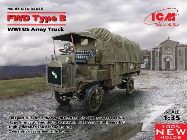 ICM 35655 WWI USA Army Truck FWD Type B 1/35