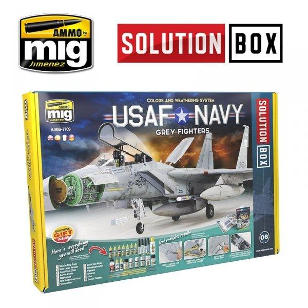 AMMO of Mig Jimenez 7709 USAF NAVY GREY FIGHTERS SOLUTION BOX