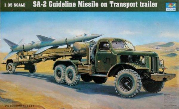 Trumpeter 00204 SA-2 Guideline Missile on Transport trailer (1:35)