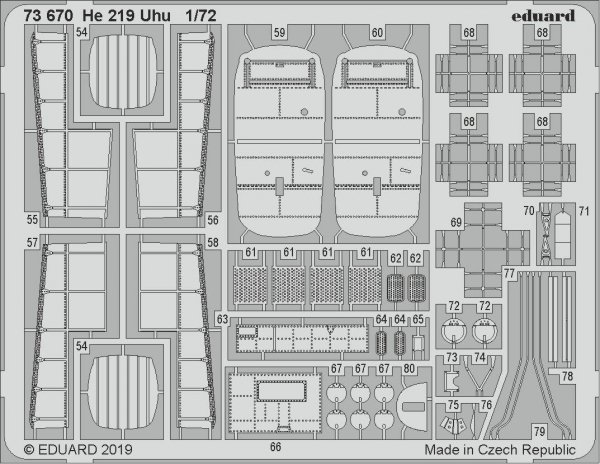 Eduard 73670 He 219 Uhu 1/72 DRAGON