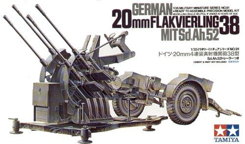 Tamiya 35091 20mm Flakvierling 38 MITSd.Ah.52 (1:35)