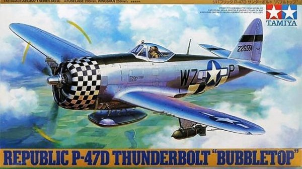 Tamiya 61090 Republic P-47D Thunderbolt Bubbletop (1:48)