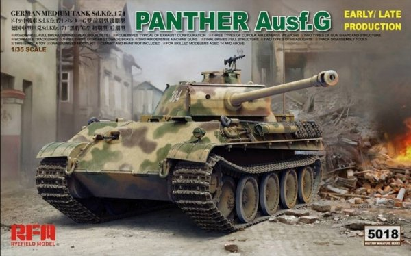 Rye Field Model 5018 Panther Ausf.G Early / Late Production 1/35