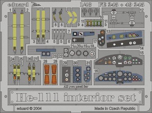 Eduard FE245 He 111 interior 1/48 Revell