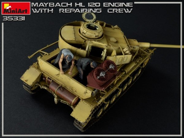 Miniart 35331 MAYBACH HL 120 ENGINE FOR PANZER III/IV FAMILY WITH REPAIR CREW 1/35