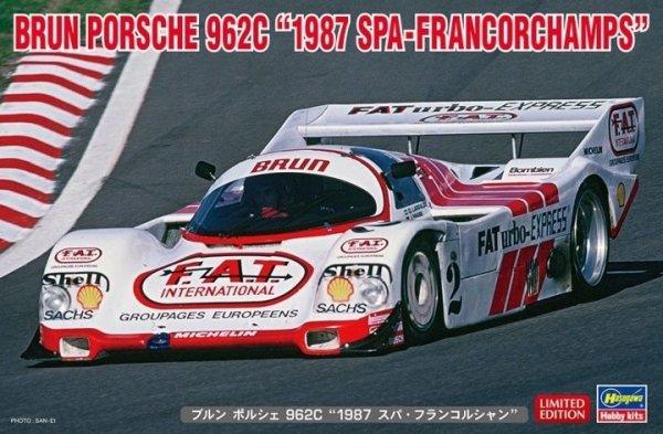 "Hasegawa 20503 Brun Porsche 962C ""1987 Spa-Francorchamps"" 1/24"