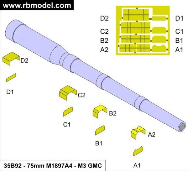 RB Model 1:35 75mm M1897A4 M3 GMC (35B92)