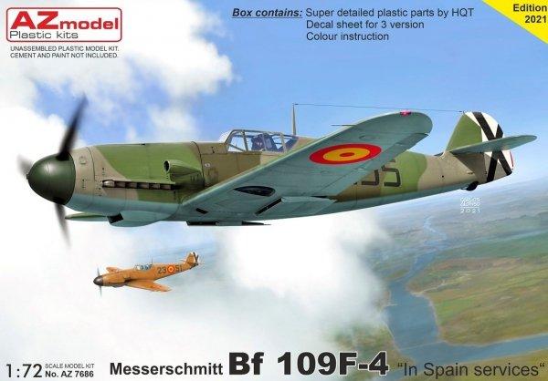 "AZ Model AZ7686 Bf 109F-4 ""In Spain Service"" 1/72"