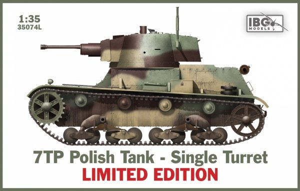 IBG 35074L 7TP Polish Tank - Single Turret LIMITED EDITION 1/35