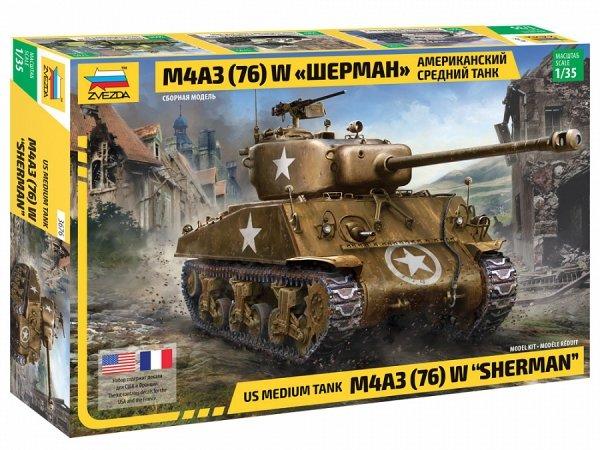 """Zvezda 3676 M4A3 (76) W """"SHERMAN"""" 1/35"""