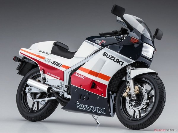 "Hasegawa 21732 Suzuki RG400 Early Version ""Red/White Color"" w/Under Cowl 1/12"