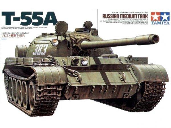 Tamiya 35257 Russian Medium Tank T-55A (1:35)