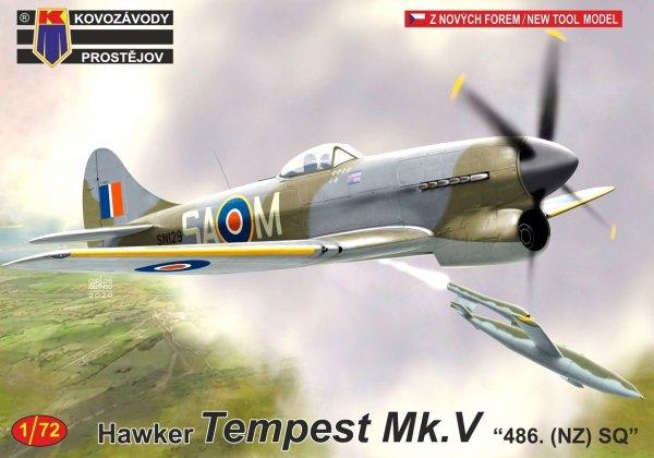 """Kovozavody Prostejov KPM0222 Tempest Mk.V """"486. (NZ) SQ"""" 1/72"""