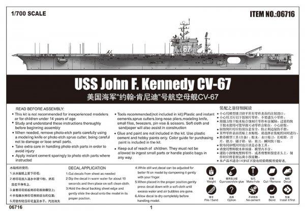 Trumpeter 06716 USS John F. Kennedy CV-67 1/700