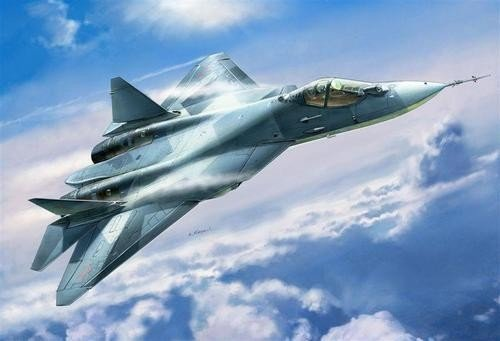 Zvezda 7275 Sukhoi T-50 Russian Stealth Fighter (1:72)