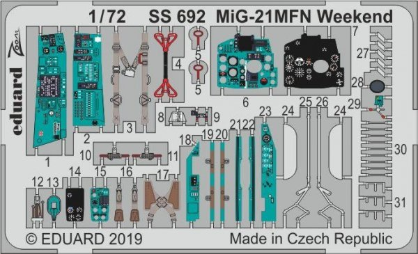 Eduard SS692 MiG-21MFN Weekend 1/72 EDUARD