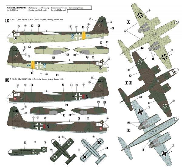 Hobby 2000 72051 Arado Ar 234 C-3 w/ Ar E381 Julia – DRAGON + CARTOGRAF 1/72