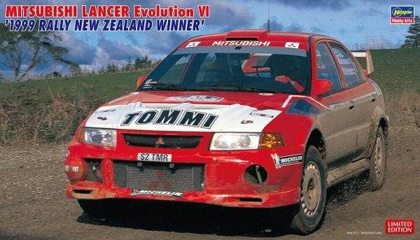 "Hasegawa 20415 Mitsubishi Lancer Evolution VI ""1999 Rally New Zealand Winner"" 1/24"