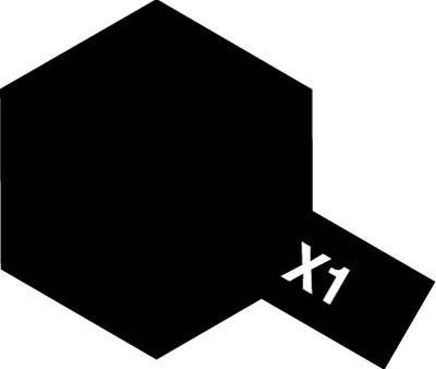 Tamiya X1 Black (81501) Acrylic paint 10ml
