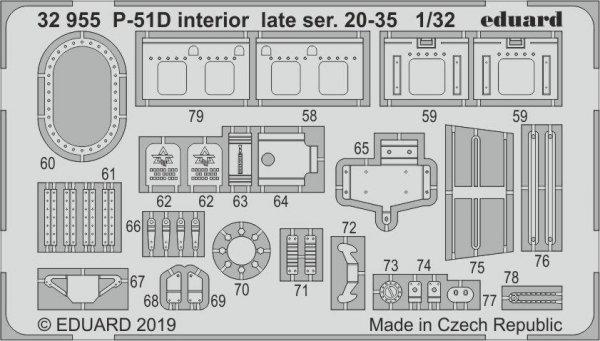 Eduard 32955 P-51D interior late ser. 20-35 1/32 TAMIYA