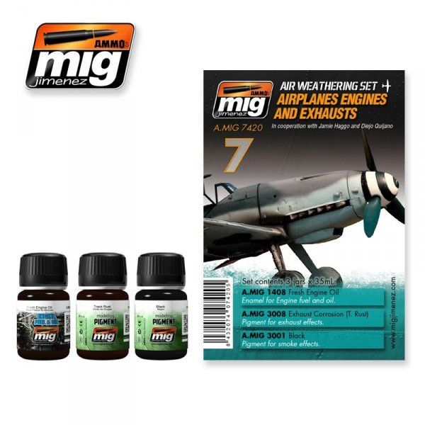 AMMO of Mig Jimenez 7420 AIRPLANES ENGINES AND EXHAUSTS