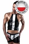 018 SET czarny kostium męski