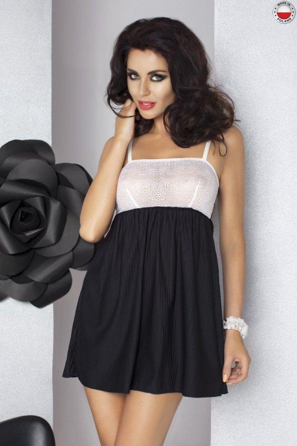 LARISA CHEMISE czarna koszulka nocna